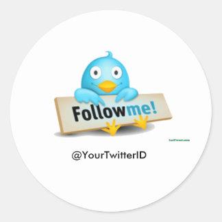 Customize Twitter ID Follow Me Bird Stickers
