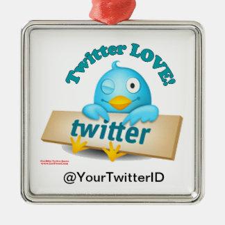 Customize Twitter ID LOVE Ornament