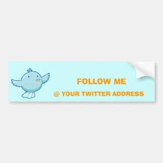 Customize Twitter Sticker Car Bumper Sticker