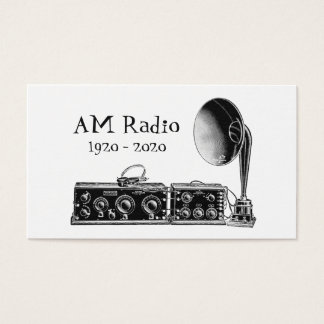 Customize Vintage AM Radio Receiver Business Card