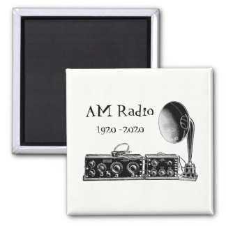 Customize Vintage AM Radio Receiver Magnet