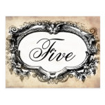 Customize Vintage look Table number card Post Cards