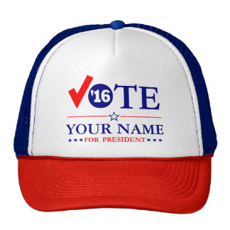 """Customize VOTE """"Your Name"""" Trucker Hat"""