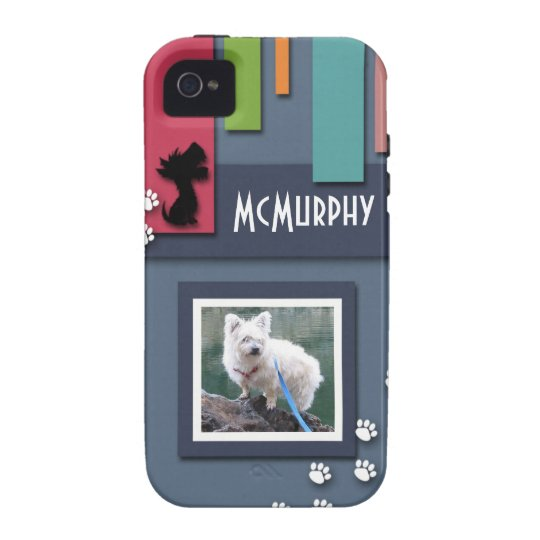 Customize w/ Your Dog Photo - Cairn Terrier Themed Case-Mate iPhone 4 Cover