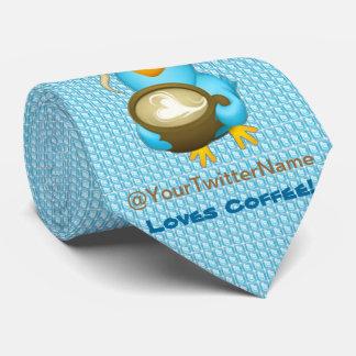 Customize W/ Your Twitter Name Coffee Bird Tie