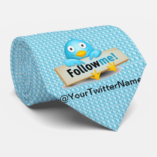 Customize W/ Your Twitter Name Follow Me Bird Tie