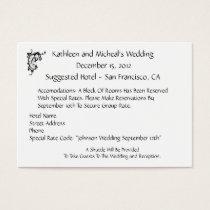Customize Wedding Hotel Accommodation Insert Card