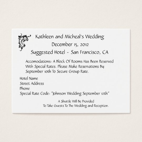 Customize wedding hotel accommodation insert card zazzle customize wedding hotel accommodation insert card filmwisefo