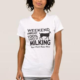 CUSTOMIZE Weekend Forecast Milking Nubian Goat T-Shirt