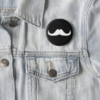 Customize white mustache black button