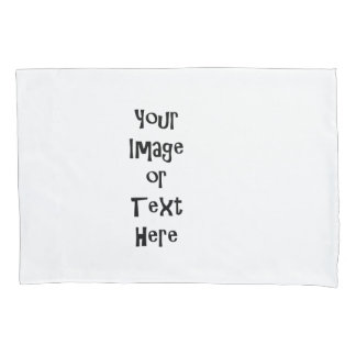 Customize with personalized pictures and text pillowcase