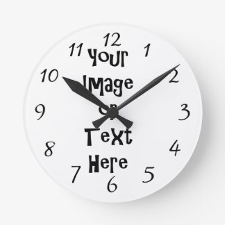 Customize with personalized pictures and text round clock