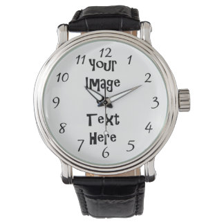 Customize with personalized pictures and text wrist watch