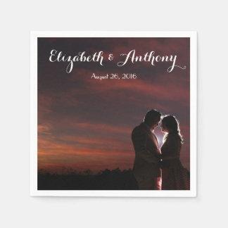 Customize with Photo Wedding Disposable Napkin