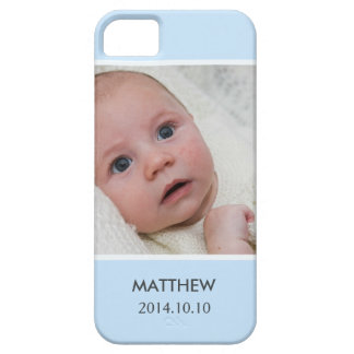 Customize with Your Boy Baby Photo - Blue Stylish iPhone 5 Covers
