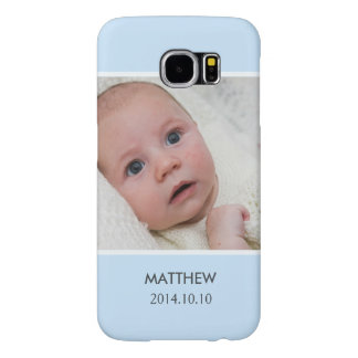 Customize with Your Boy Baby Photo - Blue Stylish Samsung Galaxy S6 Case