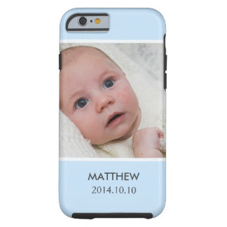 Customize with Your Boy Baby Photo - Blue Stylish Tough iPhone 6 Case