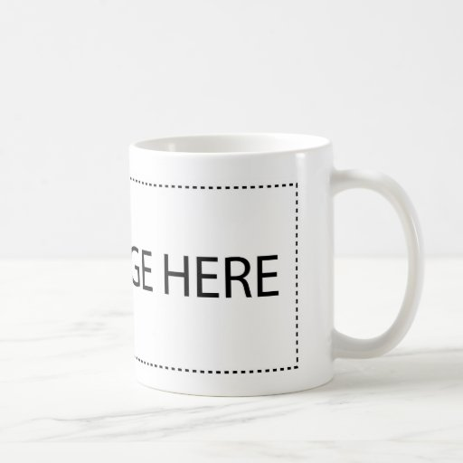 Customize with your companies logo or name classic white coffee mug