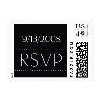 Customize with your date RSVP Stamp