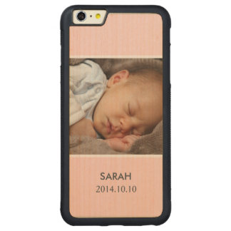 Customize with Your Girl Baby Photo - Pink Stylish Carved® Maple iPhone 6 Plus Bumper Case