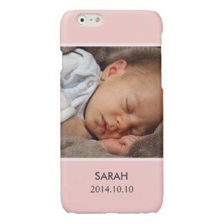 Customize with Your Girl Baby Photo - Pink Stylish Glossy iPhone 6 Case