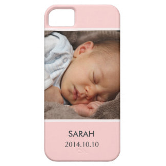 Customize with Your Girl Baby Photo - Pink Stylish iPhone 5 Cases