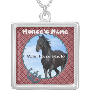 Customize  with YOUR Horse Photo and Name Necklace