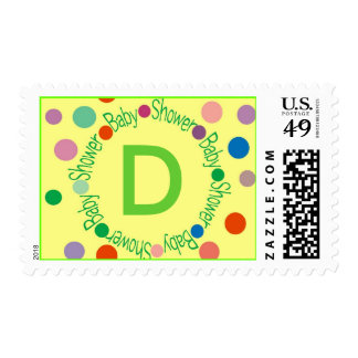 "Customize with your initial ""D"" SHOWN - Customized Postage"