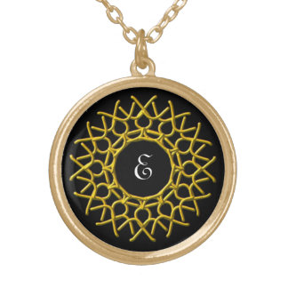 customize with your initial neon knotwork necklace
