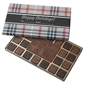 Customize With Your Name Happy Holiday Chocolate