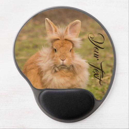 Customize with your own text cute harerabbit gel mouse pad