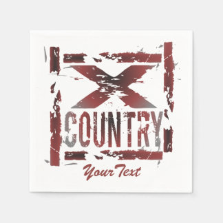 Customize XC Cross Country Runner Paper Napkins