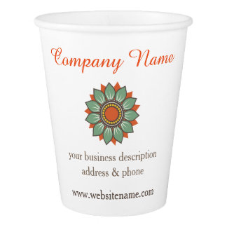 Customize Your Business Company Paper Cup