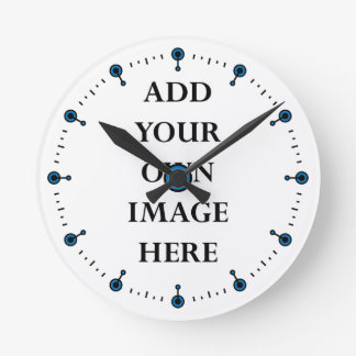 customize your clock with blue dots