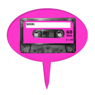 Customize Your Color Cassette Cake Topper