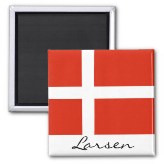 Customize Your Dannebrog! 2 Inch Square Magnet