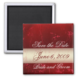 Customize your date Save the Date 2 Inch Square Magnet