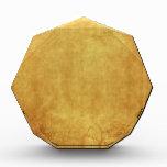 CUSTOMIZE YOUR GOLD BACKGROUND ACRYLIC AWARD