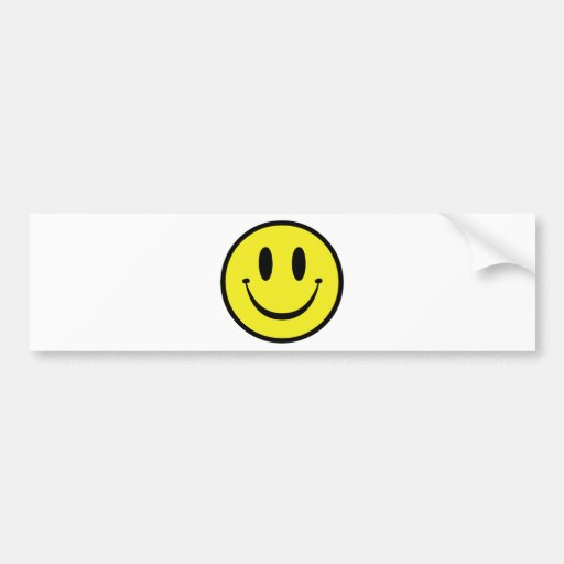 Customize your Happy Face Bumper Stickers