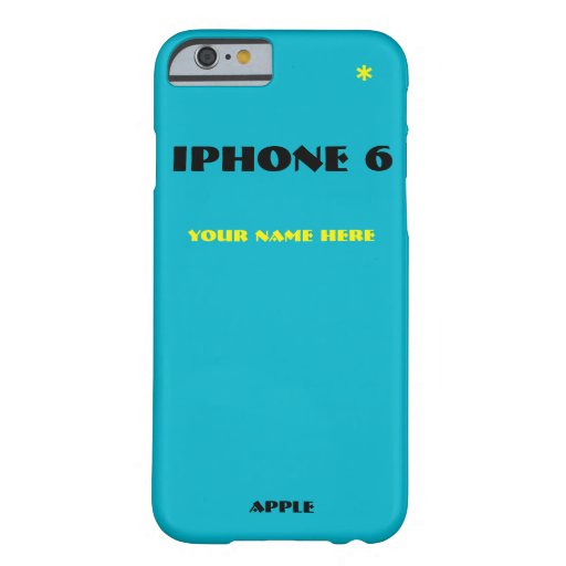 Customize Your Iphone 6 Cases With Your Name Barely There