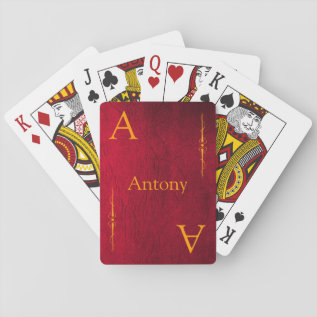 Customize Your Name And Initial Playing Cards at Zazzle