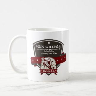 Customize Your Name Bicycle Company Logo Coffee Mug