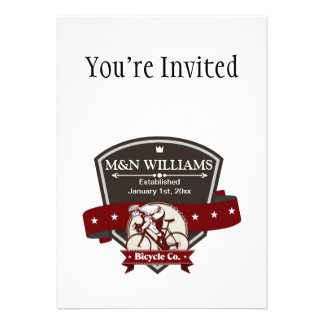 Customize Your Name Bicycle Company Logo Personalized Announcements