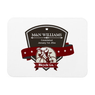 Customize Your Name Bicycle Company Logo Magnet