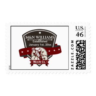 Customize Your Name Bicycle Company Logo Postage Stamp