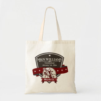 Customize Your Name Bicycle Company Logo Tote Bag