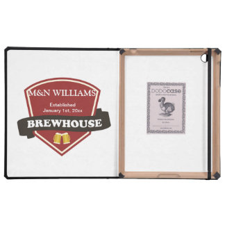 Customize Your Name Brewhouse Logo iPad Case
