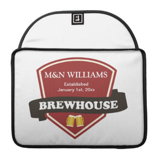 Customize Your Name Brewhouse Logo MacBook Pro Sleeve