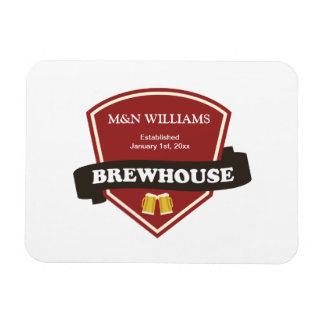 Customize Your Name Brewhouse Logo Magnet