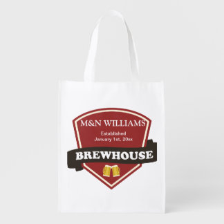 Customize Your Name Brewhouse Logo Market Totes